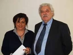 """Mirco Dondi, vice presidente Coop Estense eAddolorata Mazzotta, dirigente scolastico dell'Istituto """"Galilei Costa"""""""